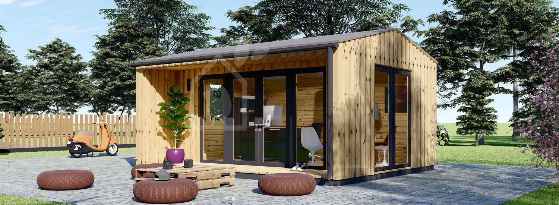 Ufficio in legno da giardino TINA (44 mm + rivestimento), 5x4 m, 15 m² visualization 1