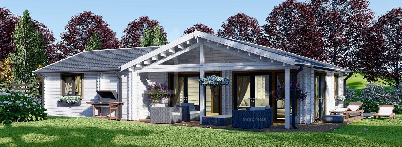 Casa in legno ADELE (44+44 mm), 68 m² visualization 1