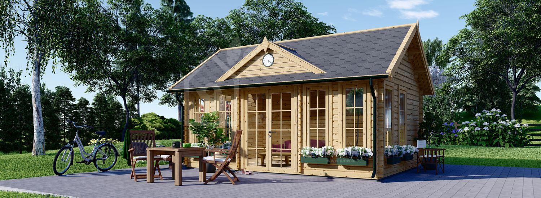 Casetta da giardino coibentata CLOCKHOUSE 5.5x4 m 22 mq visualization 1