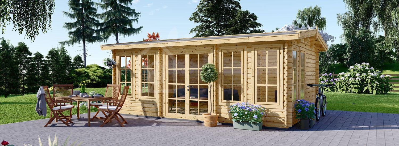 Casetta da giardino DEVON (44 mm) 6x4 m 24 mq visualization 1