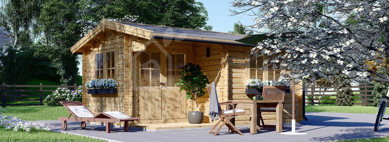 Casetta in legno da giardino OSLO (44 mm), 5x4 m, 20 m² visualization 1
