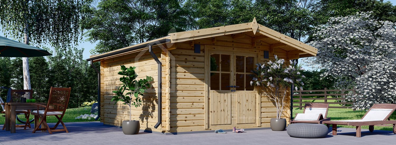 Casetta in legno da giardino PALMA (34 mm), 4x4 m, 16 m² visualization 1