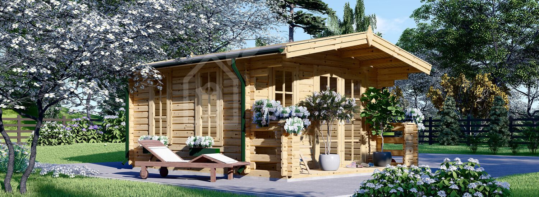 Casetta in legno da giardino KING (44 mm), 4x5 m, 20 m² visualization 1