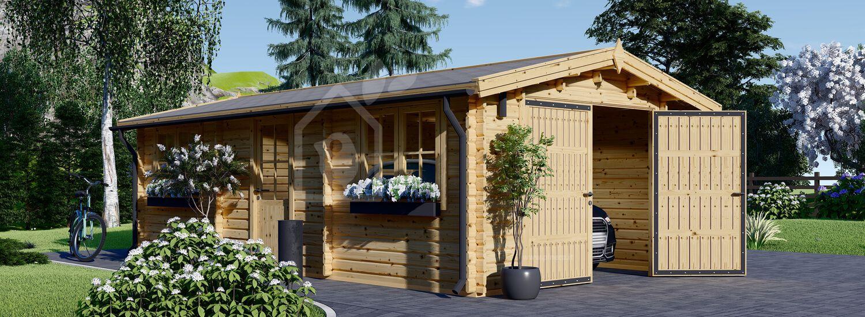 Garage in legno (44 mm) 4x7.5 m  visualization 1
