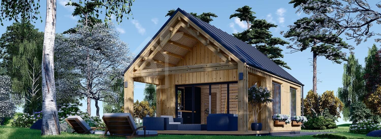 Casa in legno AGATA (44 mm + rivestimento), 39 m² visualization 1