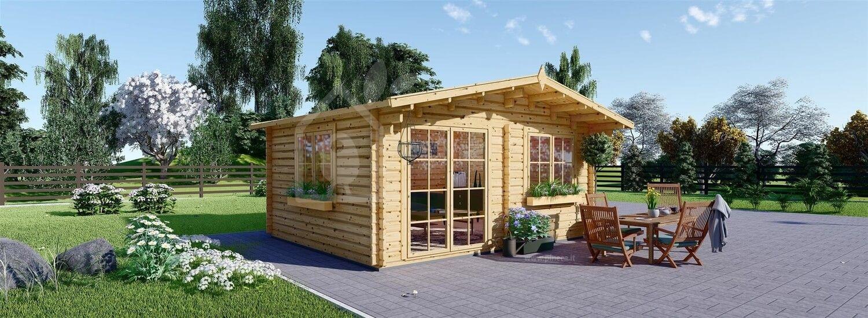 Casetta in legno da giardino WISSOUS (44 mm), 5x3 m, 15 m² visualization 1