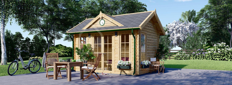 Casetta in legno da giardino CLOCKHOUSE (44 mm), 4x3 m, 12 m² visualization 1