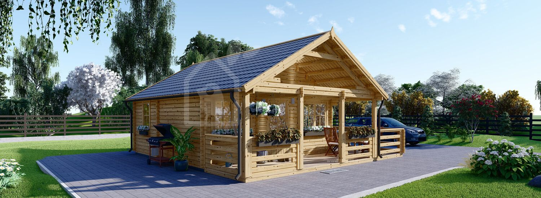 Casa in legno coibentata ANGERS 36 mq + terrazza 19 mq  visualization 1