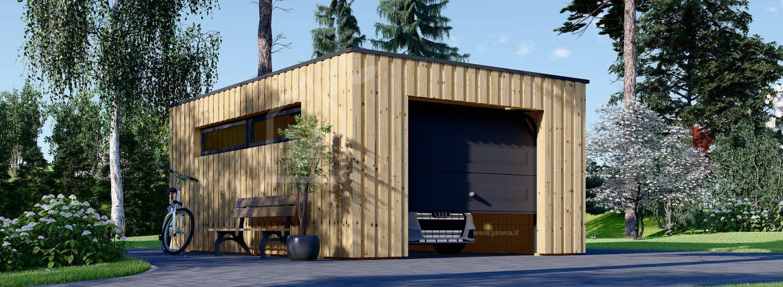 Garage in legno con tetto piano STELA F (struttura in legno), 3.2x5.2 m, 16.6 m² visualization 1