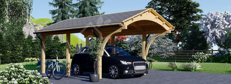 Tettoia auto in legno BETSY 3.6x6 m visualization 1