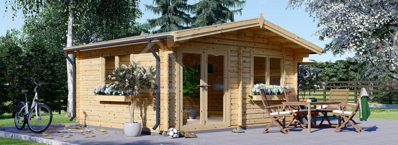 Casetta in legno da giardino WISSOUS (Coibentata, 44+44 mm), 5x5 m, 25 m² visualization 1