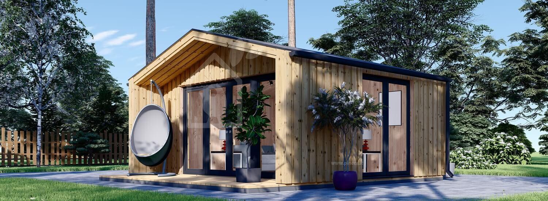 Casetta in legno da giardino PIA (Coibentata, struttura in legno), 5.2 x 4.9 m, 18 m² visualization 1