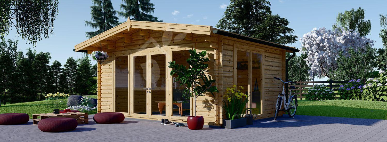 Casetta in legno da giardino MARTA (44 mm), 5x4 m, 20 m² visualization 1
