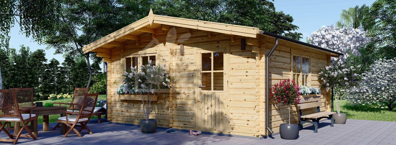 Casetta in legno da giardino DREUX (44 mm), 6x6 m, 36 m² visualization 1