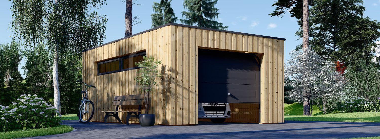 Garage in legno con tetto piano STELA F (struttura in legno), 4x6 m, 24 m² visualization 1