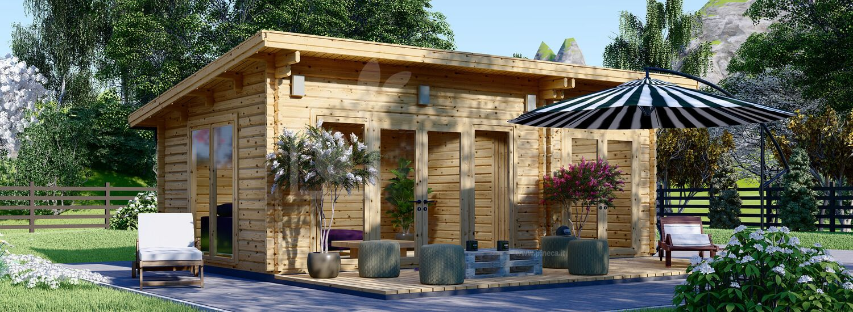 Casa in legno da giardino MAJA (44 mm), 7.5x4 m, 30 m² visualization 1