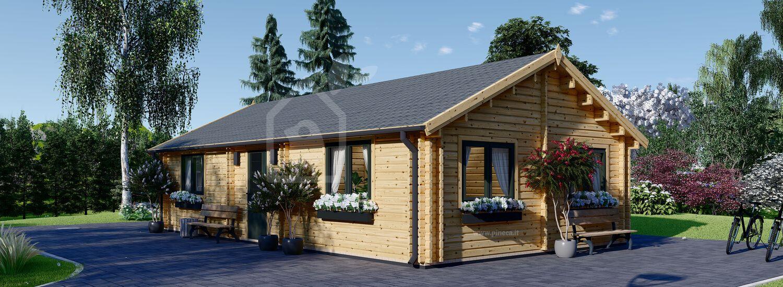 Casa in legno abitabile GRETA (Coibentata, 44+44 mm), 54 m² visualization 1