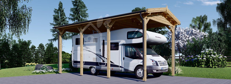 Tettoia in legno per camper 3.5x7 m 24.5 mq visualization 1