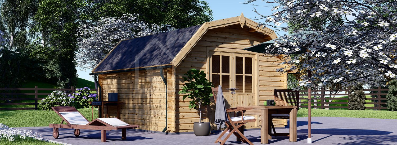 Casetta in legno da giardino ORLANDO (34 mm), 4x4 m, 16 m² visualization 1