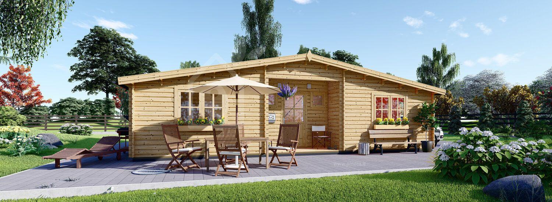Casa in legno FILL (44 mm) 60 mq visualization 1