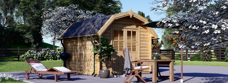 Casetta in legno da giardino ORLANDO (34 mm), 3x3 m, 9 m² visualization 1