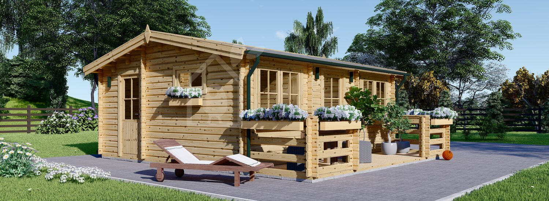 Casa in legno coibentata ALTURA 34 mq + terrazza 9.2 mq  visualization 1