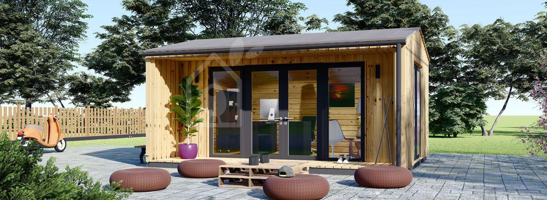 Ufficio in legno da giardino TINA (Coibentato, 44 mm + rivestimento), 5.5x4 m, 16.5 m² visualization 1