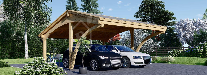 Tettoia auto in legno doppia CORA DUO 5.9x5.9 m visualization 1