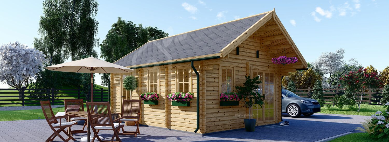 Casa in legno coibentata SCOOT 27 mq + 10 mq di mezzanino visualization 1