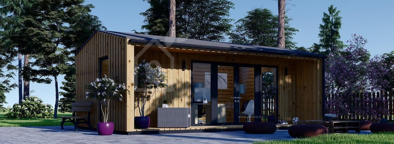 Ufficio in legno da giardino TINA (44 mm + rivestimento), 7x4 m, 20 m² visualization 1