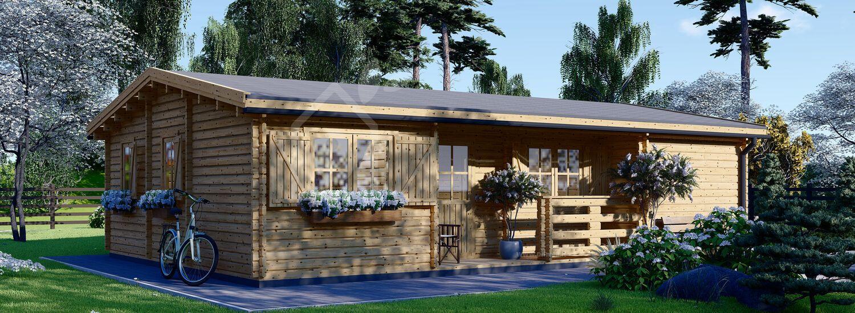 Casa in legno UZES (44 mm) 70 mq visualization 1