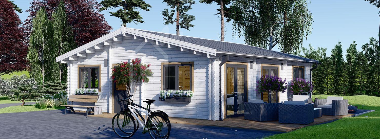 Casa in legno abitabile ALICE (Coibentata, 44+44 mm), 72 m² visualization 1