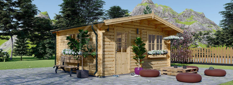 Casa in legno NINA due stanze (44 mm) 6x6 m 36 mq visualization 1