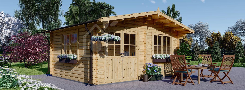 Casetta in legno da giardino LILLE (44 mm), 4x3 m, 12 m² visualization 1