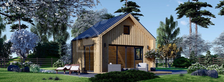 Casa in legno SARA (44 mm + rivestimento), 20 m² visualization 1