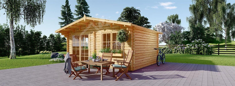 Casetta in legno da giardino WISSOUS (34 mm), 5x5 m, 25 m² visualization 1
