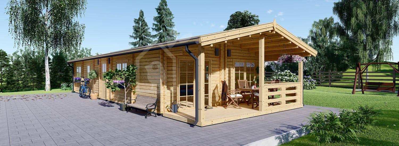 Casa in legno abitabile AVON (Coibentata, 44+44 mm), 90 m² visualization 1