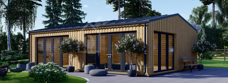 Casa in legno MARINA Modern (Coibentata PLUS, 44 mm + rivestimento), 8x6 m, 48 m² visualization 1