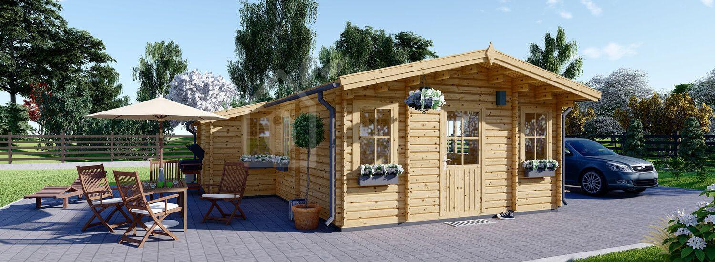 Casa in legno DIJON (44 mm), 44 m² visualization 1