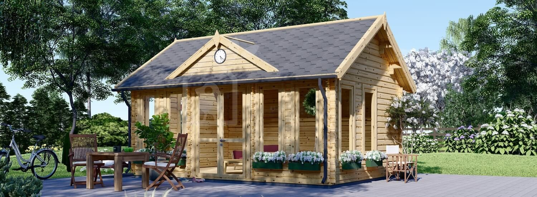 Casetta in legno da giardino CLOCKHOUSE (44 mm), 5.5x4 m, 22 m² visualization 1