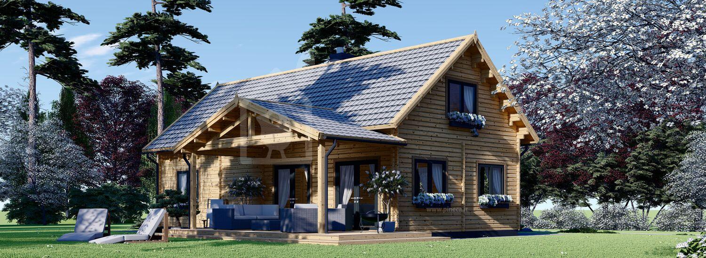 Casa in legno VERA (44+44 mm), 132 m² + 13.5 m² di porticato visualization 1