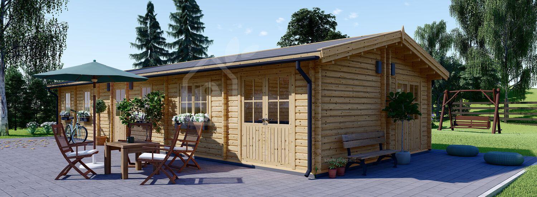 Casa in legno BRIGHTON (66 mm), 90 m² visualization 1