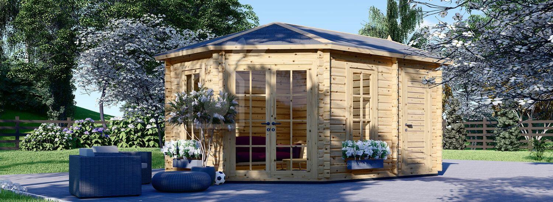 Casetta in legno da giardino KIM (44 mm), 5x3 m, 15 m² visualization 1