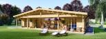 Casa in legno coibentata RIVIERA 100 mq + 20 mq di porticato visualization 3