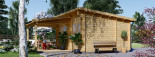 Casetta da giardino HELEN (44 mm) 24 mq + terrazza 12.5 mq visualization 4