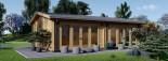 Casa in legno MARINA (44 mm) 8x6 m 48 mq visualization 3