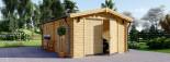 Garage in legno (44 mm) 4x6 m  visualization 2