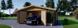 Garage in legno (44 mm) 6x6 m  visualization 3