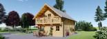 Casa in legno coibentata LANGON 95 mq con 2 balconi visualization 7