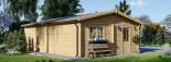 Garage in legno triplo (44 mm) 9x6 m  visualization 8